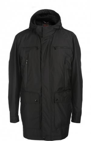 Куртка с капюшоном и брелком Paul&Shark. Цвет: черный