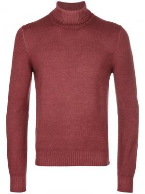 Пуловер с отворотной горловиной La Fileria For Daniello D'aniello. Цвет: жёлтый и оранжевый