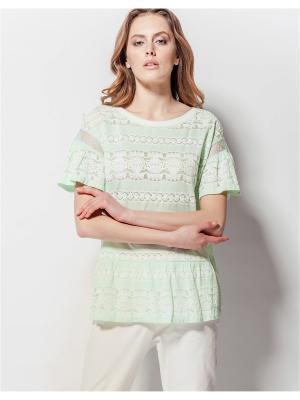 Блузка LO. Цвет: салатовый
