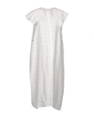 Платье длиной 3/4 MANOSTORTI. Цвет: белый