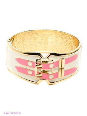 Браслет Bijoux Land. Цвет: бежевый, розовый, золотистый