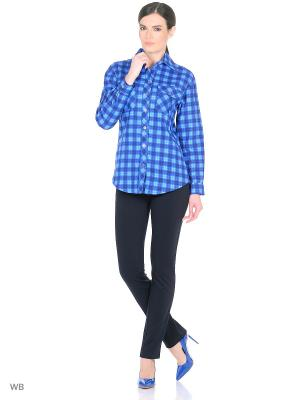 Рубашка HomeLike. Цвет: синий