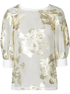 Блузка Floral Alchemy Manning Cartell. Цвет: металлический