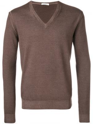 Трикотажный свитер Paolo Pecora. Цвет: коричневый