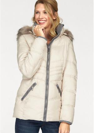 Стеганая куртка CHEER. Цвет: серый