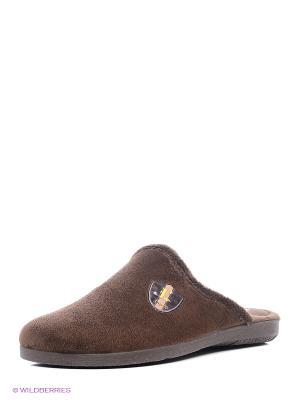 Тапочки Mon Ami. Цвет: бронзовый, темно-коричневый