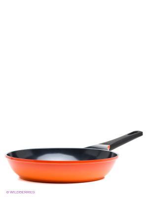 Сковорода 28 см Frybest. Цвет: светло-оранжевый, черный