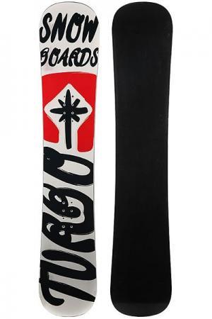 Сноуборд  Turbo Snowboards Logo 2 White/Red/Black Turbo-FB. Цвет: черный,белый,красный