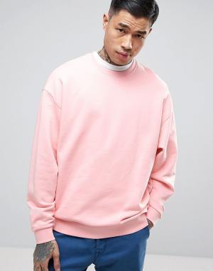 ASOS Розовый oversize-свитшот. Цвет: розовый
