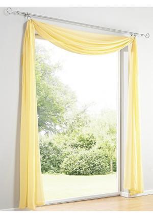 Ламбрекен Heine Home. Цвет: белый, лиловый, светло-коричневый, терракотовый