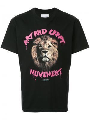 Lion motif T-shirt Yoshiokubo. Цвет: чёрный