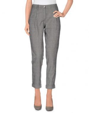 Повседневные брюки MAISON ESPIN. Цвет: серый