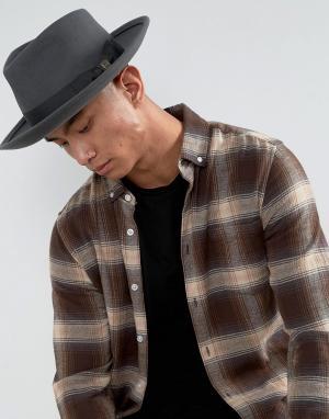 Brixton Мягкая фетровая шляпа Swindle. Цвет: серый