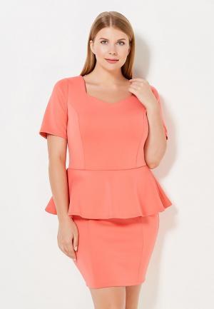 Платье Moe L&L. Цвет: коралловый
