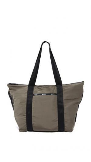 Большая объемная сумка с короткими ручками On the Go LeSportsac