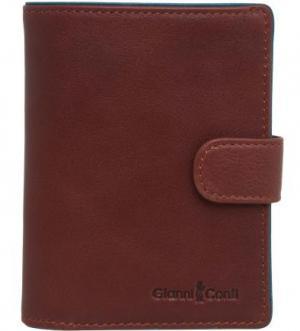 Обложка для автодокументов из гладкой кожи Gianni Conti. Цвет: коричневый
