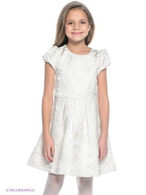 Платье PlayToday. Цвет: кремовый