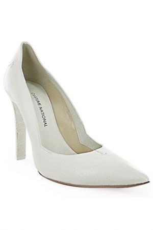 Туфли Costume National. Цвет: белый