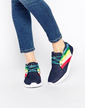 YRU Кроссовки с цветными вставками Beam High. Цвет: синий