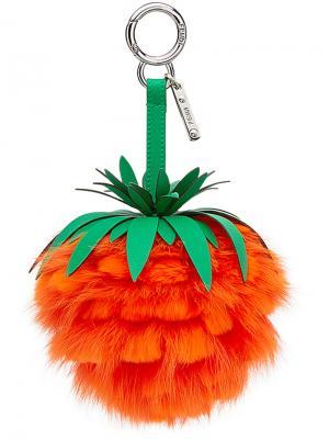 Подвеска для сумки  Fruits Fendi. Цвет: жёлтый и оранжевый