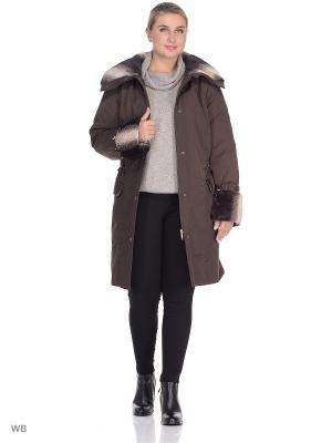 Пальто Марина VIKO. Цвет: коричневый