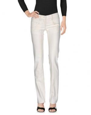 Джинсовые брюки DANIELE ALESSANDRINI. Цвет: слоновая кость