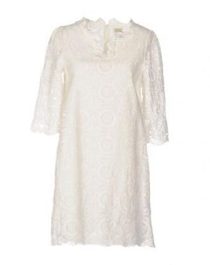 Короткое платье LOU LONDON. Цвет: белый