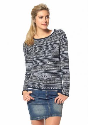Пуловер BOYSENS BOYSEN'S. Цвет: темно-синий/белый