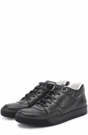 Кожаные кеды на шнуровке Lanvin. Цвет: черный