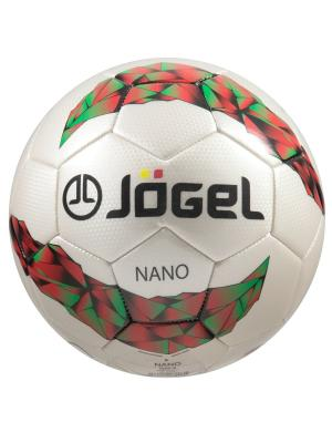 Мяч футбольный Jоgel JS-200 Nano №4 Jogel. Цвет: белый, зеленый, красный, черный