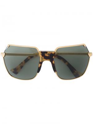 Солнцезащитные очки-авиаторы Grey Ant. Цвет: коричневый