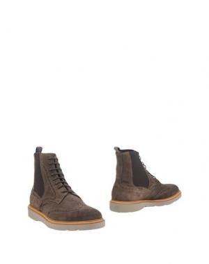 Полусапоги и высокие ботинки GUARDIANI DRIVE. Цвет: темно-коричневый