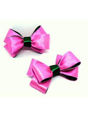 Резинки для волос Вероника ТД Трастеро. Цвет: зеленый, розовый