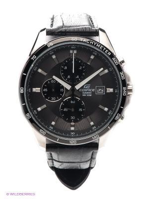 Часы EDIFICE EFR-512L-8A CASIO. Цвет: антрацитовый, черный