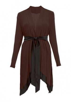Халат домашний Petit Pas. Цвет: коричневый