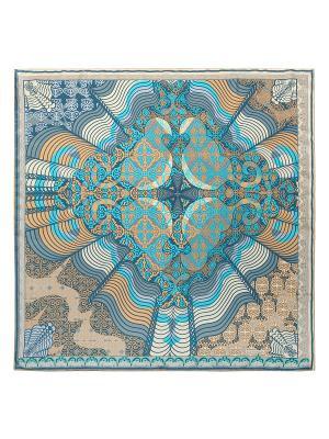 Платок Eleganzza. Цвет: морская волна, голубой, кремовый, серый, темно-бежевый