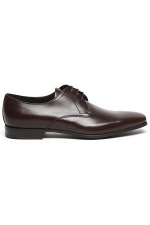 Туфли Prada. Цвет: коричневый