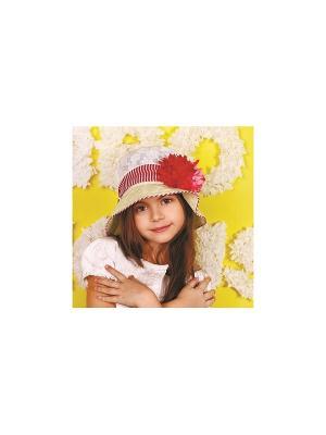 Шляпа DEMBOHOUSE. Цвет: желтый, белый