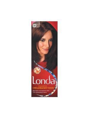 Крем-краска для волос стойкая 34 Золотисто-каштановый LONDA. Цвет: красный