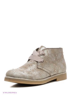 Ботинки Mariamare. Цвет: темно-бежевый