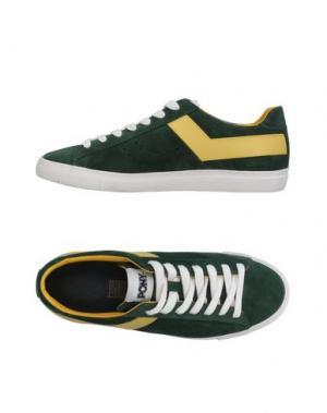 Низкие кеды и кроссовки PONY. Цвет: зеленый