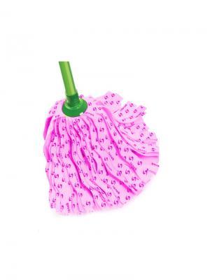 Моп ленточный из вискозы 780216 для мытья полов Banat. Цвет: розовый