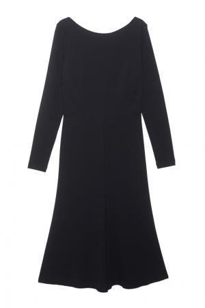 Однотонное платье Alexander Terekhov. Цвет: черный