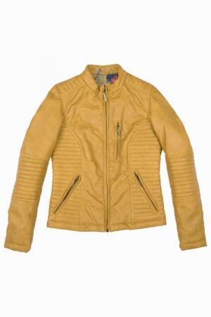 Куртка Gulliver. Цвет: горчичный