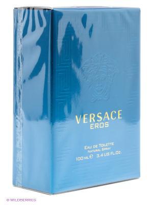 Versace Eros, Туалетная вода, 100 мл. Цвет: синий