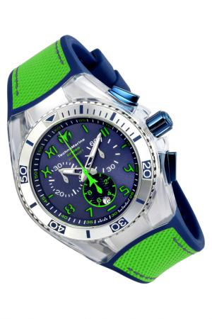 Watch TechnoMarine. Цвет: silver, blue, green