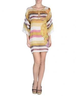 Пляжное платье ROBERTO CAVALLI BEACHWEAR. Цвет: желтый
