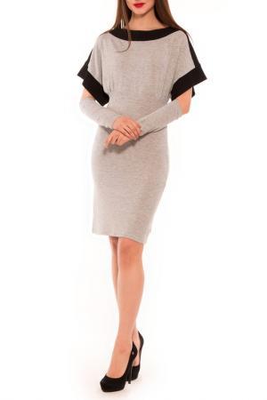 Платье Majaly. Цвет: серый, черный