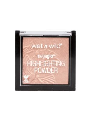 Пудра - Хайлайтер MegaGlo Highlighting Powder E322b crown of my canopy Wet n Wild. Цвет: бежевый, бронзовый