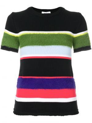 Полосатая футболка Enföld. Цвет: многоцветный